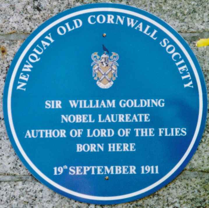 Sir William Golding born 19th September 1911 on Mount Wise in Newquay