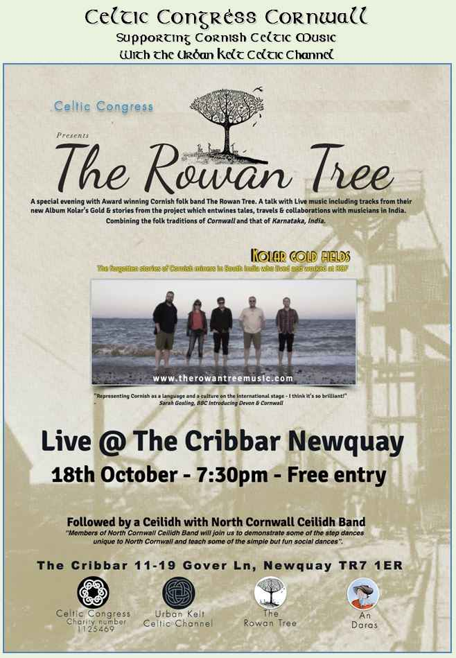 The Rowan Tree  on 18th October in Newquay
